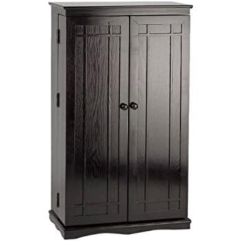 Delightful Leslie Dame CD 612B Solid Oak Multimedia Storage Cabinet With Classic Mission  Style Doors,