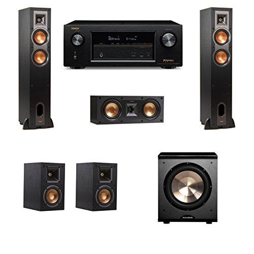 Klipsch R-28F Floorstanding Speakers 5.1 PL-200 Denon AVR-X1200W
