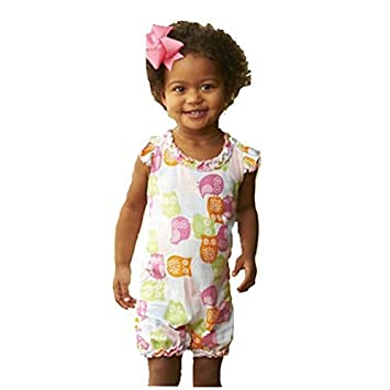 209b83cf9ef Image Unavailable. Image not available for. Color  Mud Pie Infant Girl s Owl  Romper ...