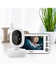 """reer 80430 BabyCam kamera wideo Babyphone L, zasięg 300 m, obiektyw szerokokątny 50 stopni, wyświetlacz TFT 4,3"""", z alarmem ruchu, biały"""
