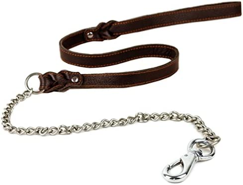 Tellpet Leather Leash Chain Links