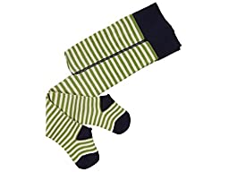 Grödo (Groedo) Organic Cotton Baby Infant Tights Made in Germany (Navy/green/natural, 9-12 Months)