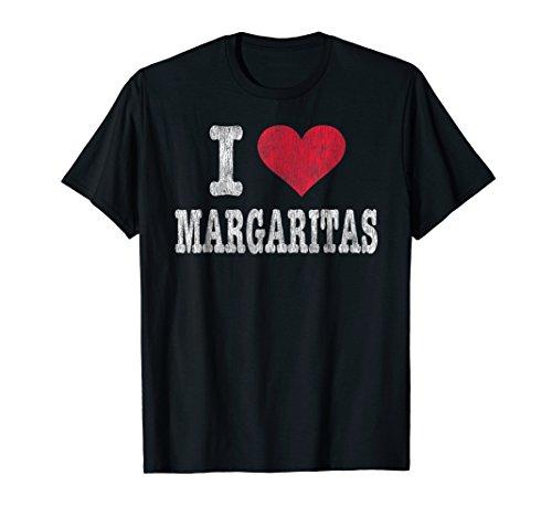 Vintage I Love Margaritas T Shirt Trendy Gift ()