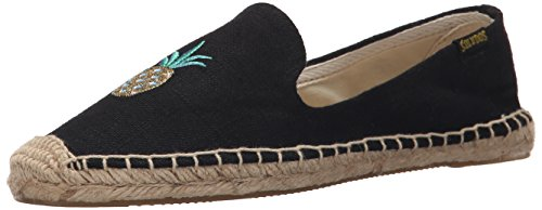 Smoking Black Soludos Pineapple Slipper Women's Flat Embroidered 1Aq6YE
