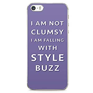 Loud Universe Buzz Clumsy iPhone SE Case Toy Story iPhone SE Cover with Transparent Edges