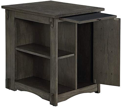 Powell Parnell Wood Side Table
