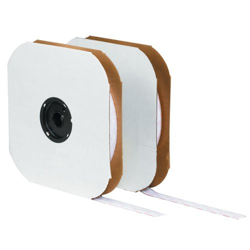 Velcro VEL135, Tape - Individual Strips, 1'' x 75' Hook, White by VELCRO Brand