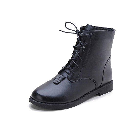 da invernali a 42 donna Calore black piatto 42 fondo Stivaletti Caviglia casual qHfOdq