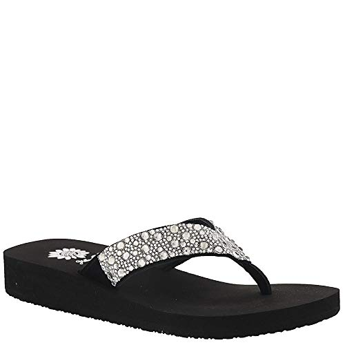 Yellow Box Jarvis Women's Sandal 8.5 B(M) US Clear-Black