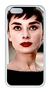 TPU White Color Soft Case For iPhone 5S Super Soft Ultra-thin Phone Case Suit iPhone5/5S Very Fine Workmanship Case Easy To Operate Audrey Hepburn 28