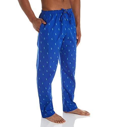 (Polo Ralph Lauren Pony Player 100% Cotton Woven Pajama Pant (R082SR) M/Cruise Royal/Kelly)