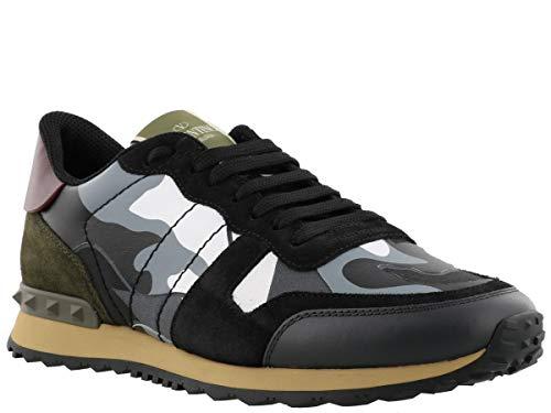 VALENTINO Uomo Grigio GARAVANI ROCKRUNNER Nero Scarpe AQ7 QY2S0723TCC Sneakers 1rf1q4