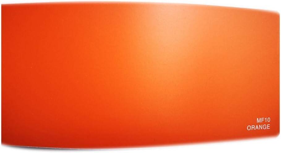 ビニールラップ フィルム 車体の装飾ステッカーフィルム用フィルムオレンジ/ピンク1.52 * 30M、車ラップビニールを変更するマット車のボディカラー 自動車塗装 (Color : Orange)