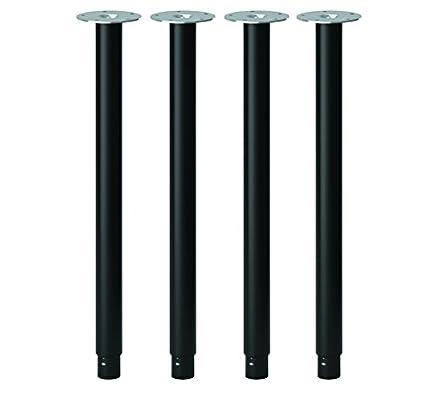 Bon IKEA OLOV Adjustable Metal Table Legs   Steel, Black [Set Of 4]