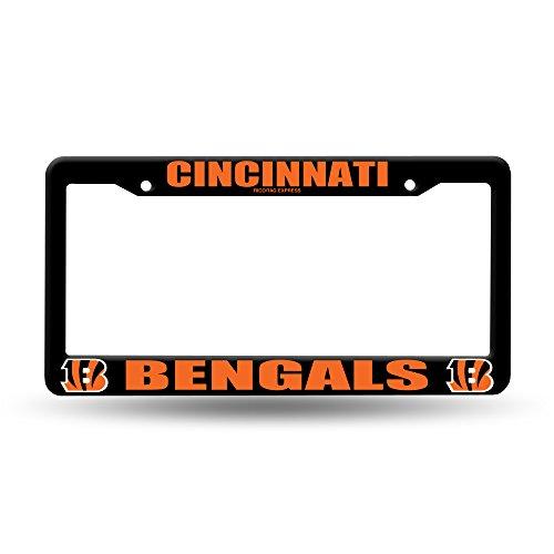 Cincinnati Bengals Black Plastic License Plate Frame