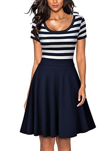 Miusol Womens Casual Style Stripe