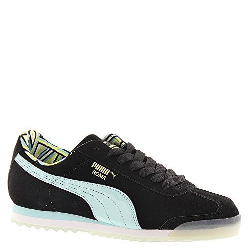 Puma Women's Roma NBK Sneakers, Black Blue Light Sunny Lime (US Women's 6.5 B Medium) (Light Blue Puma Sneakers compare prices)