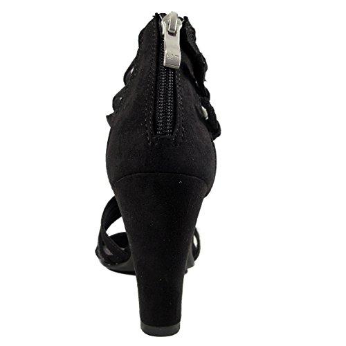 Marco Tozzi Mujeres Zapatos de tacón negro, (BLACK COMB) 2-2-28310-26/098