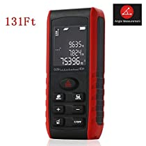Acekool Laser Measure 131 Feet,Laser Distance Meter Measure with Angle,Distance,Area,Volume and Pythagorean Measurement,Laser Distance Range Finder with m/in/ft,Laser Measure0.16 to 131 Feet,IP54 Water Resistance
