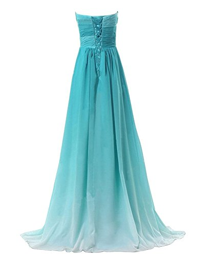 Pageant Party Prom 2019 Long Bjade Chiffon Women's Ombre BessWedding Dress Gown BW048 8qFRO0t