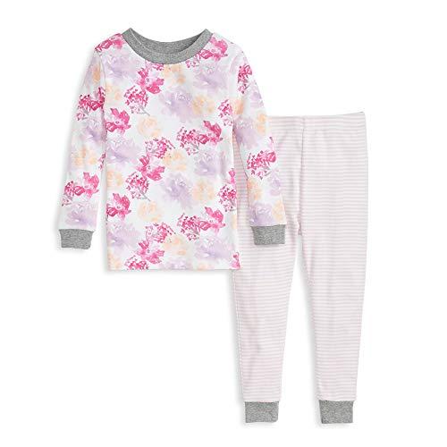 Burt's Bees Baby Baby Girls' Pajamas, Tee and Pant 2-Piece Pj Set, 100% Organic Cotton