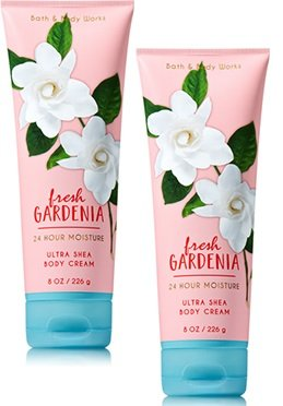 Bath and Body Works 2 Pack Fresh Gardenia Ultra Shea Body Cream.8 (Fresh Gardenia)