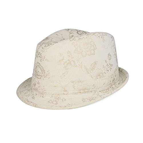 Hats & Caps Shop Ladies' Corduroy Printed Fedora Hat - By TheTargetBuys | (Lrg New Era)