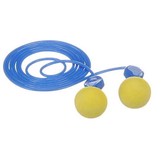3M E-A-R Express Pod Plugs Corded Earplugs, Hearing Conservation Blue Grips 311-1114 in Pillow Pack (Pack of 100)
