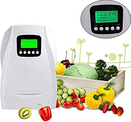 YYSDH 2020 Aire-Agua Esterilizador Ionizador Generador De Ozono Purificador Verduras Frutas Esterilización De La Máquina De Ozono Ozonizador Multi con Temporizador para Ministerio del Interior,Blanco