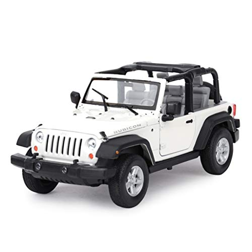 (Model Car 1: 24 Jeep Wrangler Robin Hood Toy Die Casting Off-Road Vehicle SUV Alloy Car Model ( Color : White - Convertible ))