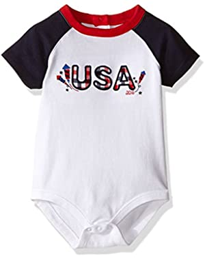 Baby Girls' USA 4th of July Graphic Bodysuit