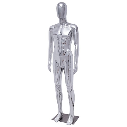 Male Base - Giantex Male Mannequin Stand Dress Form Full Body Egghead Plastic Full Body Display with Base