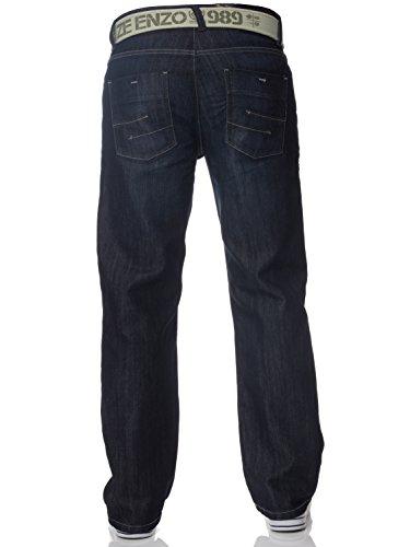 Fit Jeans Capi Scuri Lavaggio Uomo Loose Enzo Tgq8wE0w