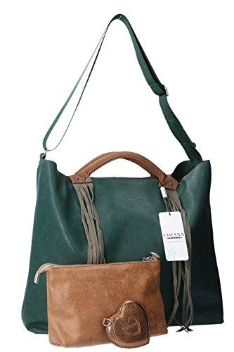 Shu Verde Mano G421 Design Borsa Donna Chiara A Bn0EqxqA