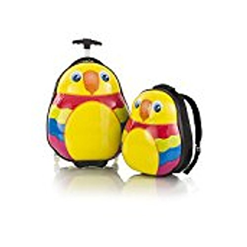 Heys Parrot Travel Tots - Lightweight 2pc. Kids Luggage & Backpack Set by Heys