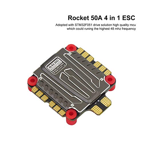 Wikiwand DALRC Rocket 50A 4 in 1 ESC Brushless 3-6S Blheli_32 LIHV DSHOT1200 for Drone by Wikiwand (Image #2)