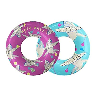 Float Naked | Pool Tubes with Fun Prints | Celebrity-Approved Tubes for Floating | Fun Swim Floaties for Adults | Great Inner Tube Pool Floaty for All Ages | Inflatable Water Float - Shark 2-in-1: Toys & Games