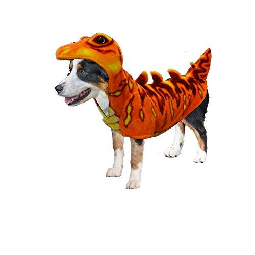 Amazing Pet Products 55512 Stegosaurus Wannabe Dog Coat, Large