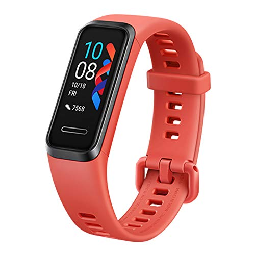 Huawei Band 4 Smart Band Bracelet 0.95 Inch Fitness Activity Tracker, Heart Rate Monitor, Blood Oxygen Saturation Detection, Built-in GPS, 5ATM Waterproof Long Standby
