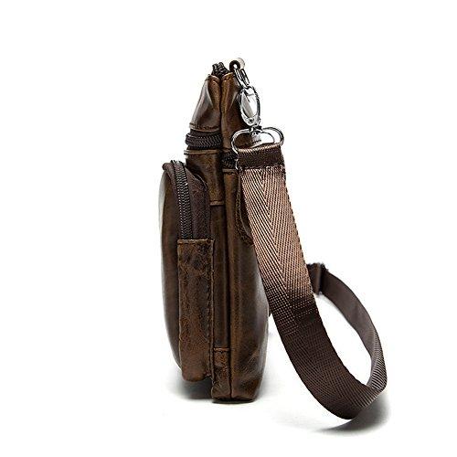 Hombre Para Colores Con Elige Marrón Mensajero De Su Bolso Dos Cintura Ordenador marrón Portátil 2archer La Genda Práctica Hombro Bolsa zRStZx6