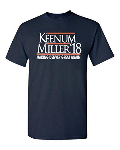 """WB SHIRTS Navy Denver Keenum Miller 2018"""" T-Shirt Adult"""