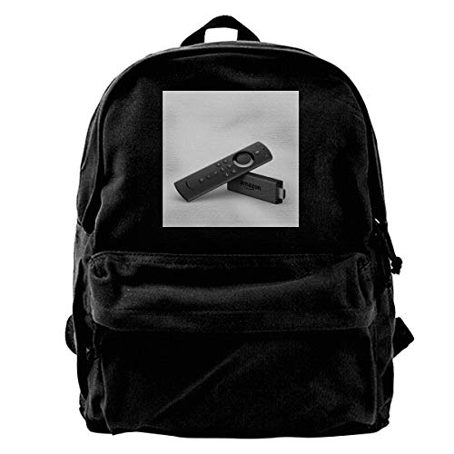Price comparison product image MIJUGGH Canvas Backpack Fire TV Stick with Alexa Voice Remote Streaming Media Player Rucksack Gym Hiking Laptop Shoulder Bag Daypack for Men Women