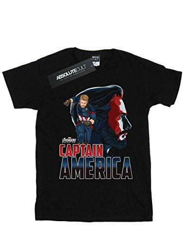 Infinity Nero Uomo War Maglietta Character America Captain Avengers znaq7wT54