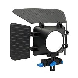 CowboyStudio Camcorder DSLR Shoulder Mount Rig Support 1 Hand & Follow Focus & Matte Box for DSLR Canon Nikon Sony, RL-00ISet