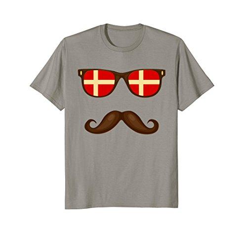 Danish Flag Sunglasses Mustache - Danish Sunglasses