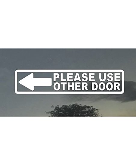 Please Use Other Door Sign Left Arrow 2