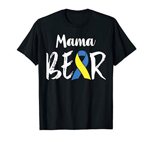 mama Bear Blue Yellow Ribbon Down Syndrome