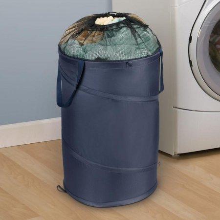 Hoomall Folding Large Round Laundry Hamper Basket