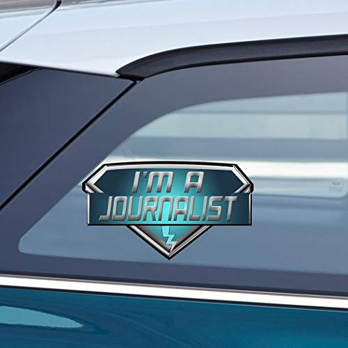Makoroni - I'M A JOURNALIST Career Car Laptop Wall Sticker Decal - 4'by7'(Small) or 5.5'by10'(Large)