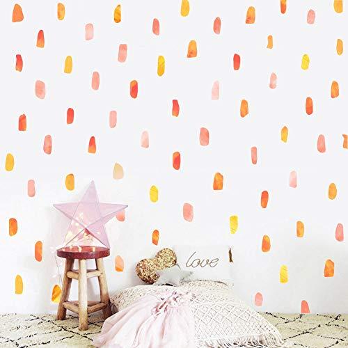 TOARTi Watercolor Stroke Wall Decal, Paint Brush Stroke Sticker for Classroom Decoration,Artistic Splash Kids Room Wall Art (112 pcs)